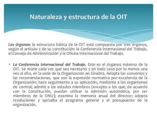 Organizaci n internacional del trabajo oit for Origen de la oficina