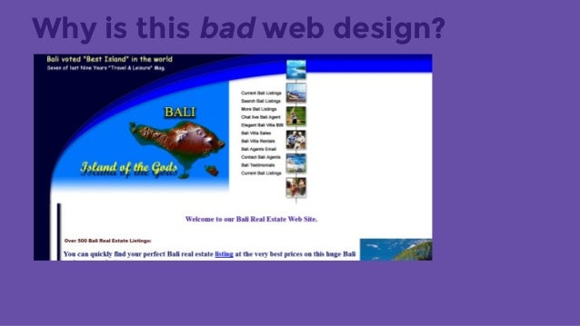 why is this bad web design