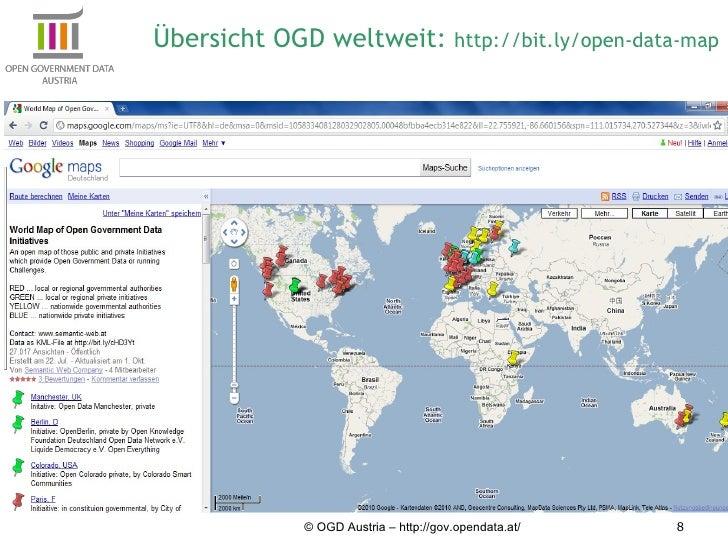 © OGD Austria – http://gov.opendata.at/ Übersicht OGD weltweit:  http://bit.ly/open-data-map