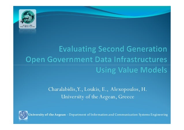 Charalabidis,Y., Loukis, E., Alexopoulos, H. University of the Aegean, Greece University of the Aegean – Department of Inf...