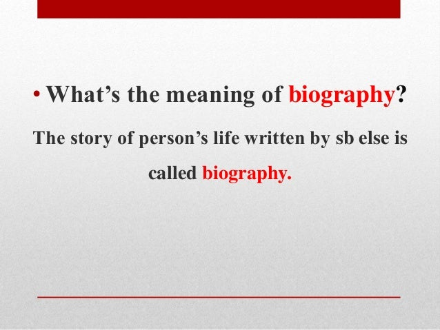 how to write a biography paragraph
