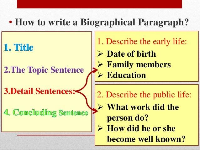 biography paragraph