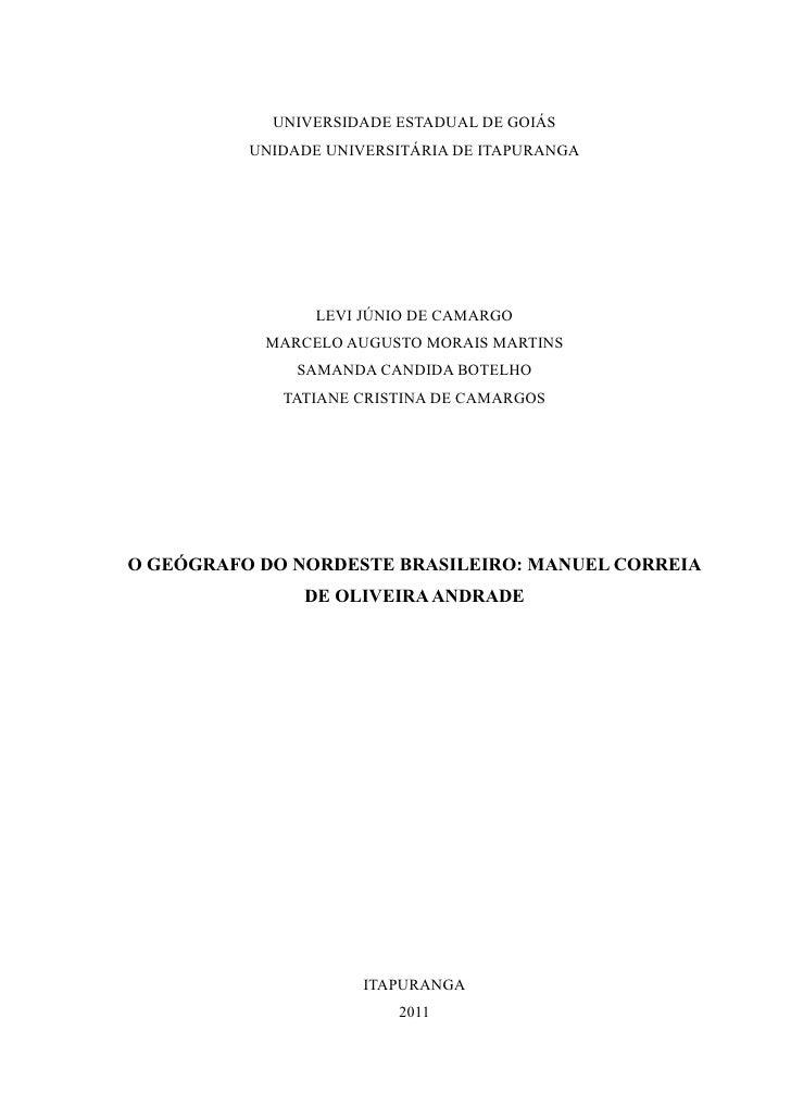 UNIVERSIDADE ESTADUAL DE GOIÁS          UNIDADE UNIVERSITÁRIA DE ITAPURANGA                 LEVI JÚNIO DE CAMARGO         ...
