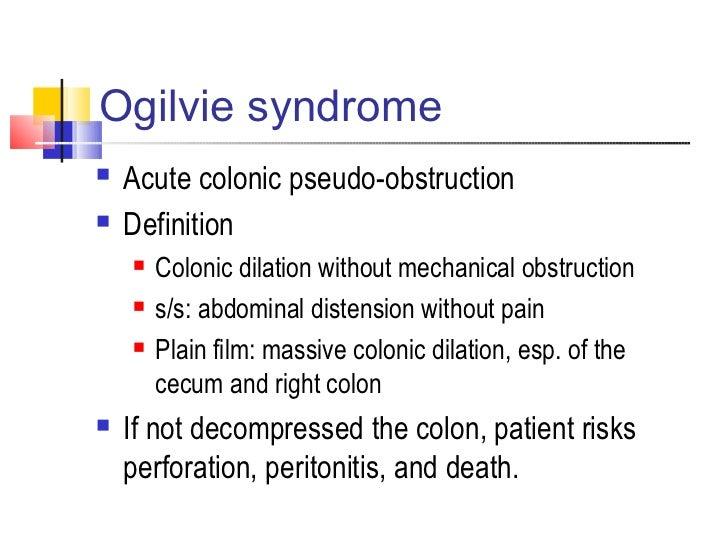 ogilvie syndrome