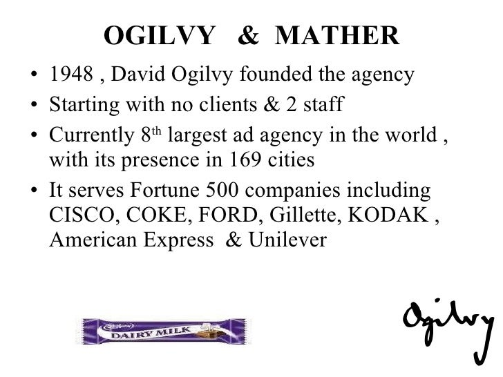 ogilvy mather - Ogilvy Mather Ad Agency