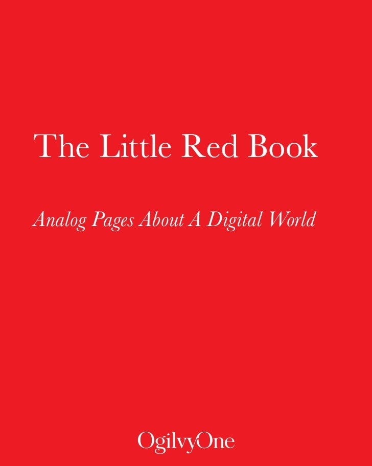 The Little Red Book  Analog Pages About A Digital World                     INTRODUCTION                     -1-