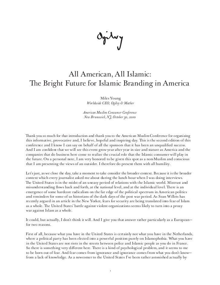 All American, All Islamic: The Bright Future for Islamic Branding in America