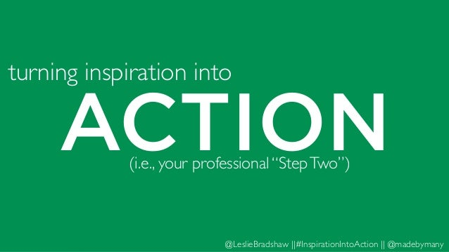 how to put your ideas into action