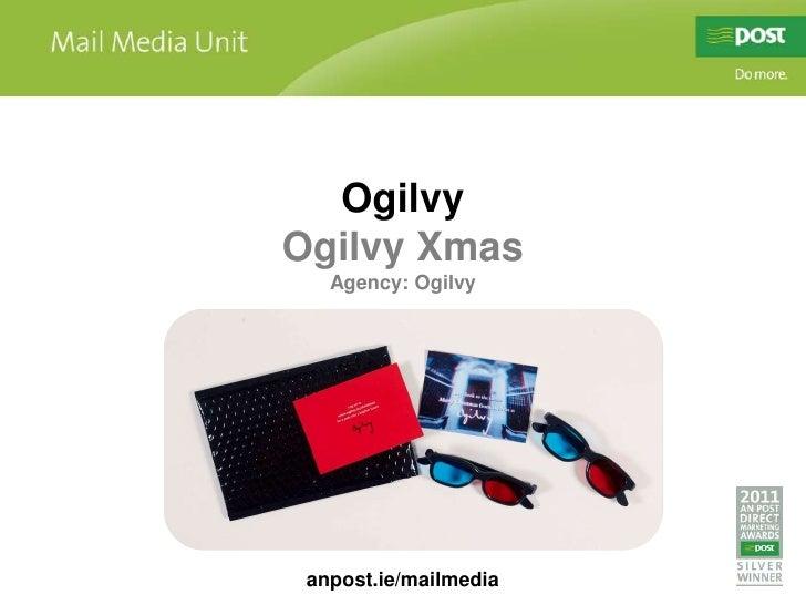 OgilvyOgilvy Xmas   Agency: Ogilvy anpost.ie/mailmedia