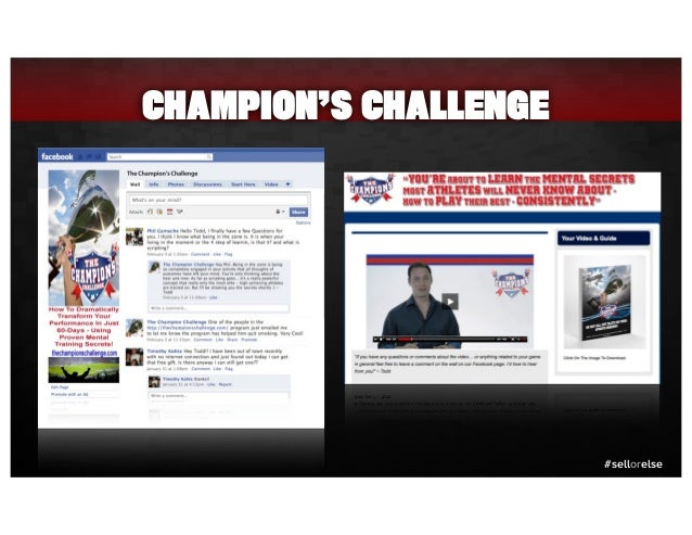 #sellorelse CHAMPION'S CHALLENGE