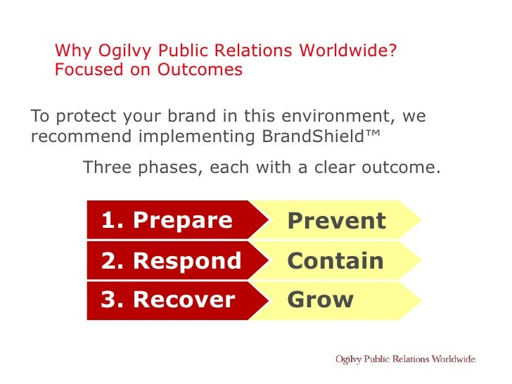 Why Ogilvy Public Relations Worldwide?   Focused on Outcomes  To protect your brand in this environment, we recommend impl...