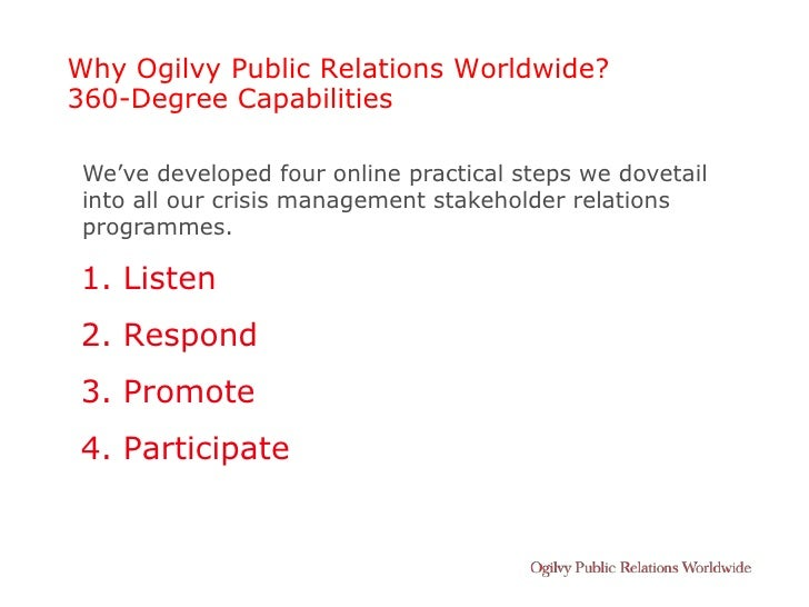Why Ogilvy Public Relations Worldwide? 360-Degree Capabilities   We've developed four online practical steps we dovetail  ...