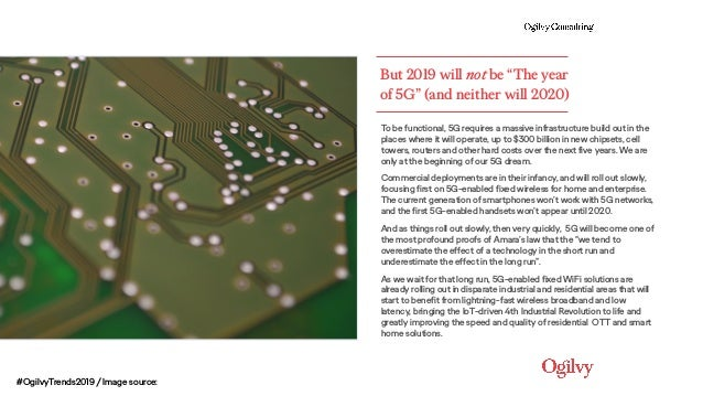"""But 2019 will not be """"The year of 5G"""" (and neither will 2020) To be functional, 5G requires a massive infrastructure build..."""