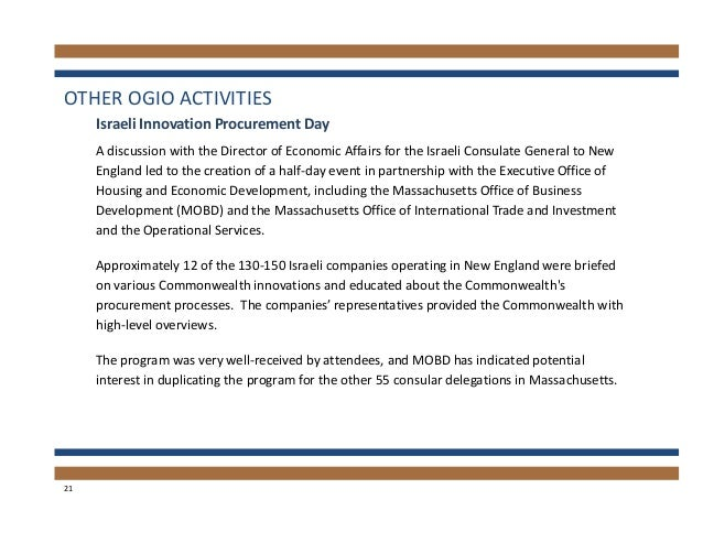 2013 Annual Report of the Office of the Massachusetts
