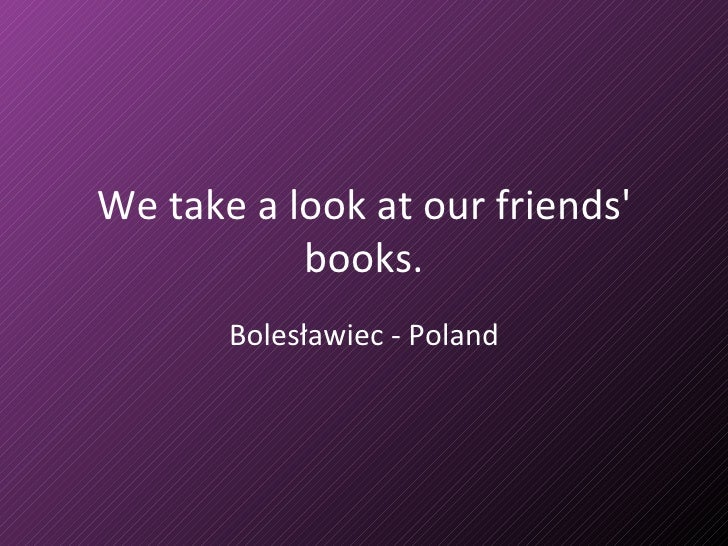 We take a look at our friends' books. Bolesławiec - Poland