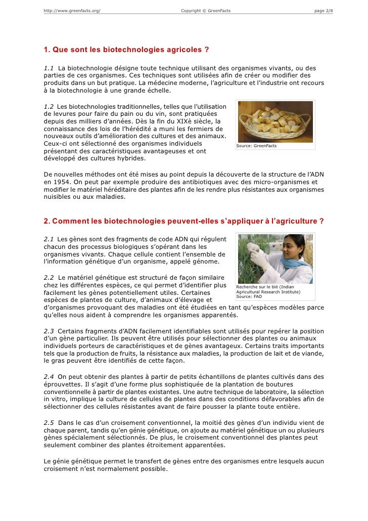 http://www.greenfacts.org/                      Copyright © GreenFacts                        page 2/81. Que sont les biot...