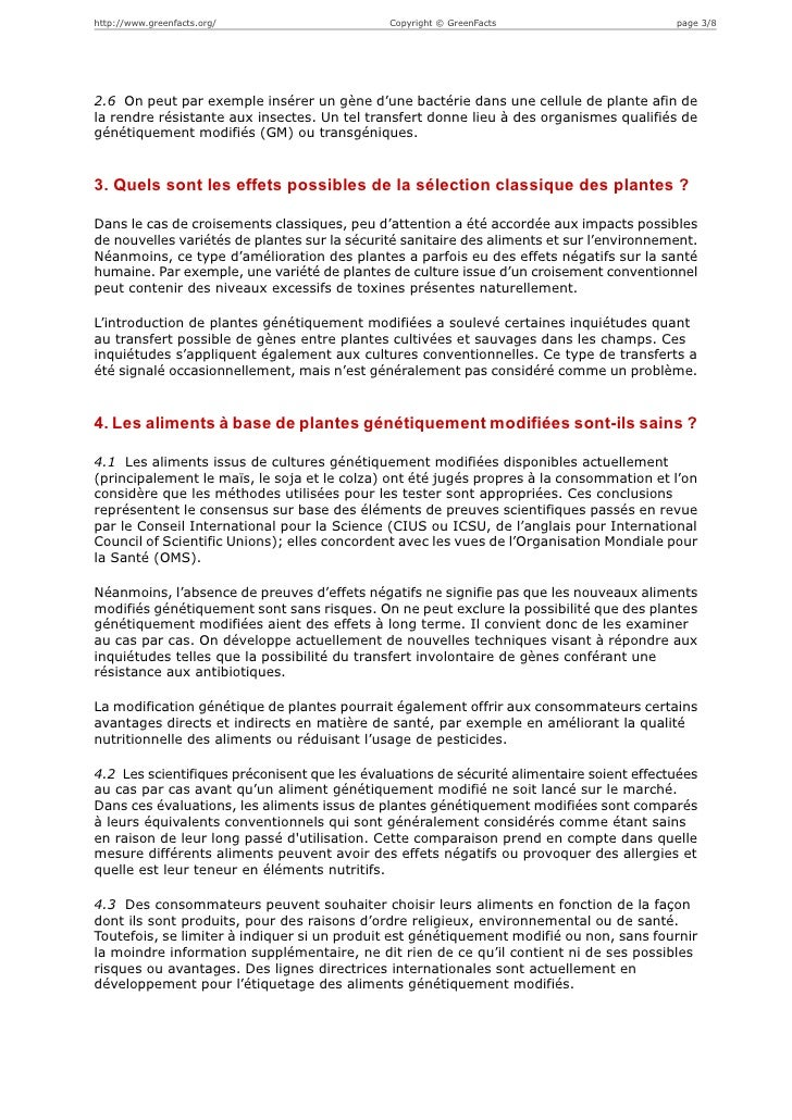 http://www.greenfacts.org/                    Copyright © GreenFacts                       page 3/82.6 On peut par exemple...