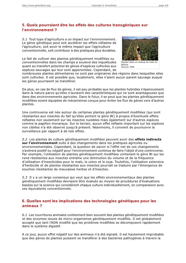 http://www.greenfacts.org/                     Copyright © GreenFacts                         page 4/85. Quels pourraient ...