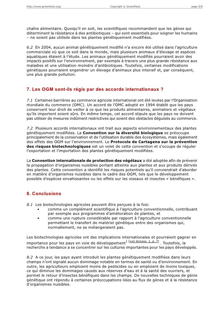 http://www.greenfacts.org/                   Copyright © GreenFacts                      page 5/8chaîne alimentaire. Quoiq...