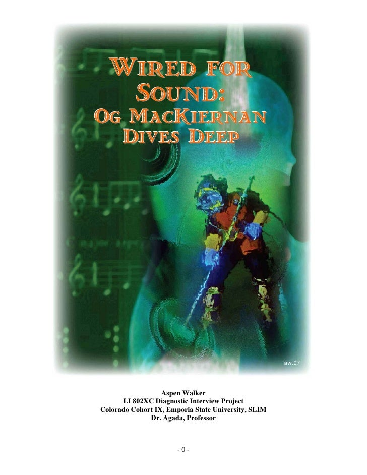 Wired for    Sound: Og MacKiernan   Dives Deep                                                          aw.07             ...