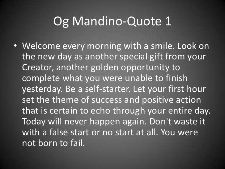 Og Mandino Quotes Mesmerizing Og Mandino Quotes
