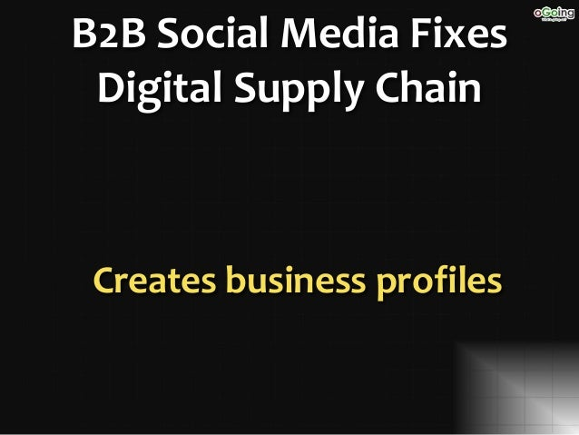 Technology Management Image: Compete And Win With B2B Social Media For Supply Chain