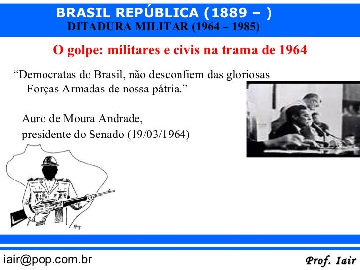 O golpe de 1964 Slide 2