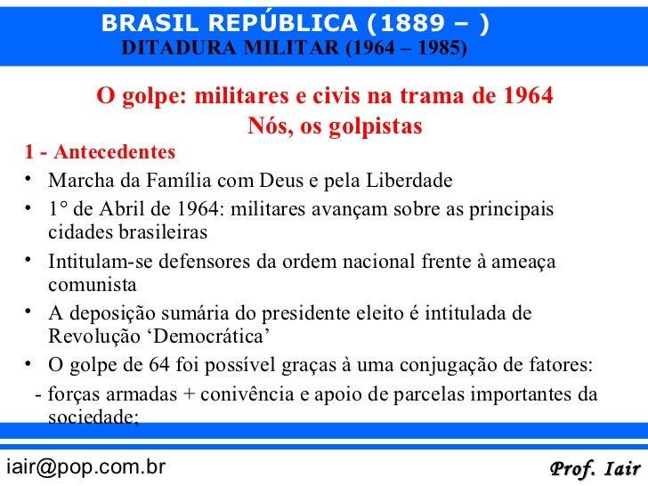 O golpe de 1964 Slide 3