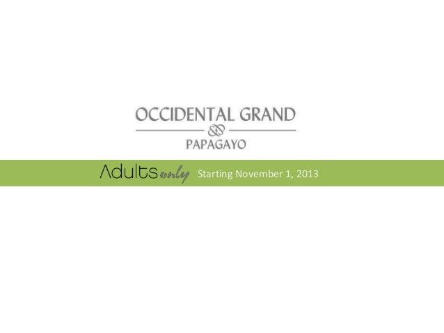 Starting November 1, 2013