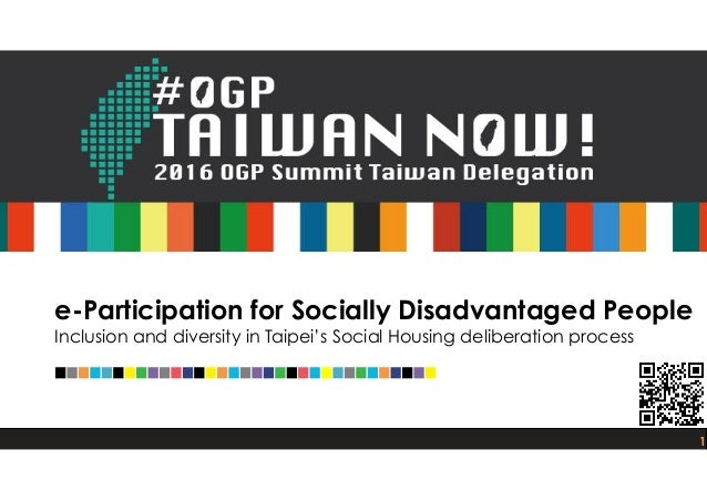 e-Participation for Socially Disadvantaged People 