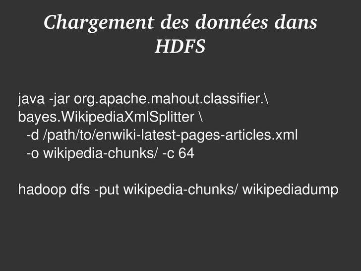 Hadoop MapReduce - OSDC FR 2009