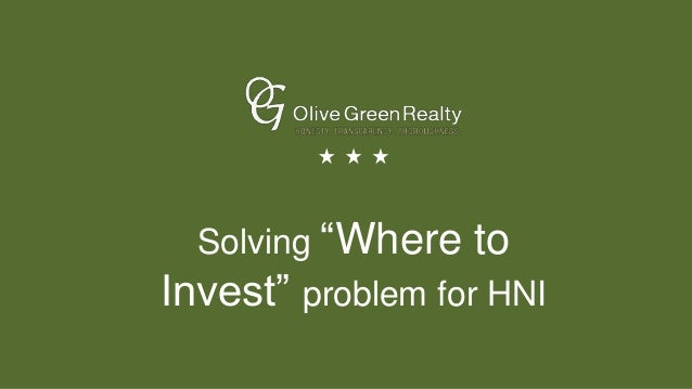 "Solving ""Where to Invest"" problem for HNI"