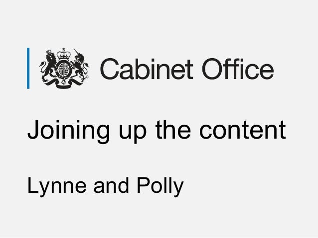 Joining up the content Lynne and Polly