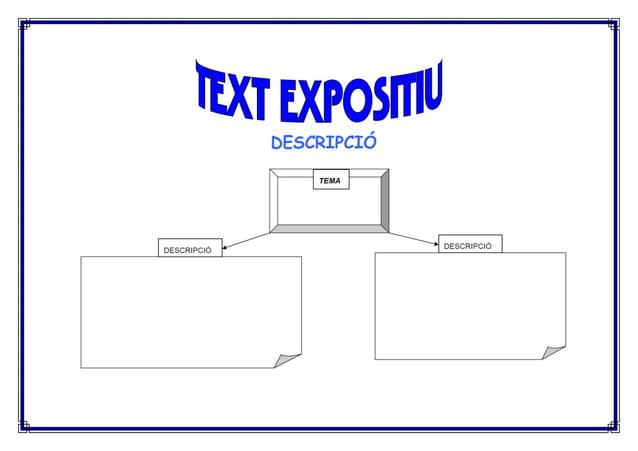 Organitzadors gràfics de diferents textos expositiu