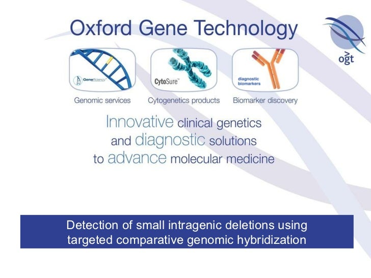 Detection of small intragenic deletions using targeted comparative genomic hybridization