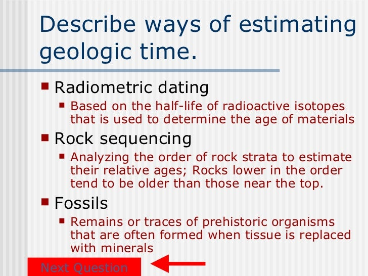 Data based questions dating fossils using radioisotopes