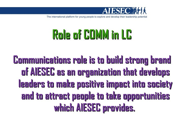 a learning organization aiesec Aiesec is an international youth, non-for-profit organization present in more than 120 countries aiesec members understand the value of diversity in teams, team work and networking aiesec's purpose is to develop entrepreneurial and responsible leaders through team experiences, leadership.