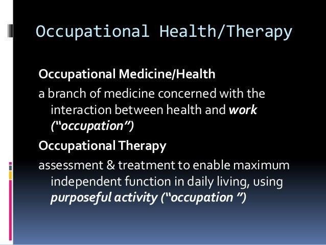 Occupational ...
