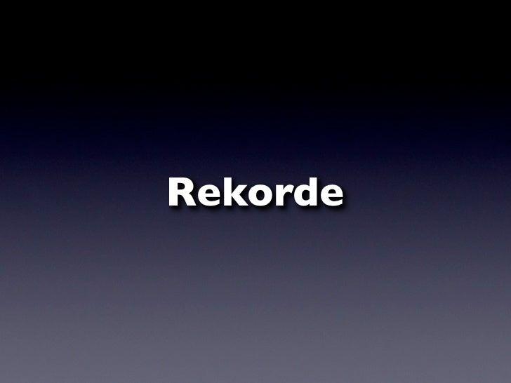 Rekorde