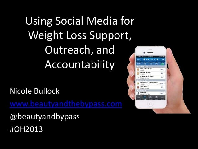Using Social Media for Weight Loss Support, Outreach, and Accountability Nicole Bullock www.beautyandthebypass.com @beauty...