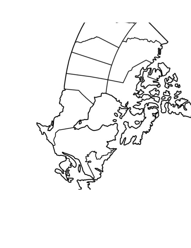 Canada map worksheet on