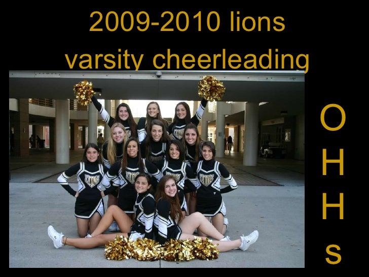 2009-2010 lions varsity cheerleading O H H s