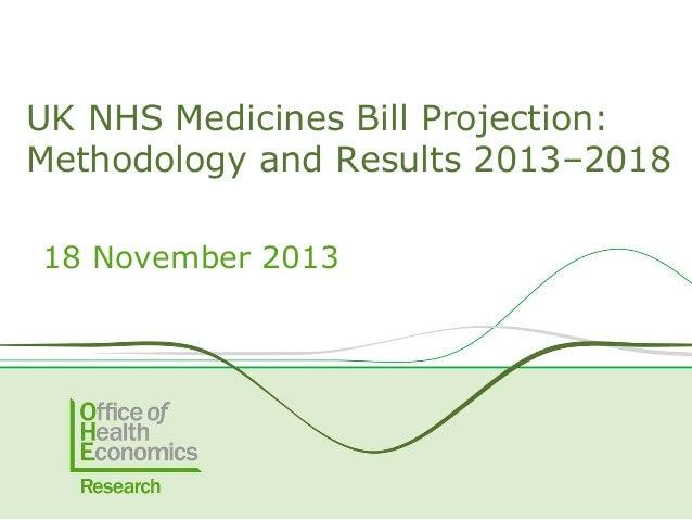 UK NHS Medicines Bill Projection: Methodology and Results 2013–2018 18 November 2013