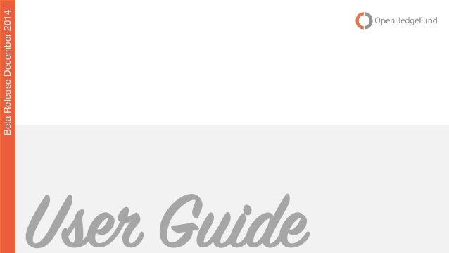 Settembre 2014 | 1User Guide BetaReleaseDecember2014