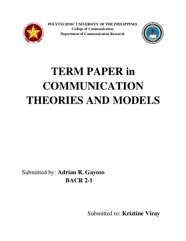 theories and models of communication Critically examine a range of theoretical approaches to learning and communication discuss how the learning and communication theories apply to your own teaching and.