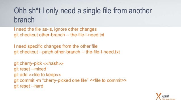 git checkout file from another branch