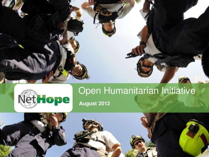 Open Humanitarian InitiativeAugust 2012