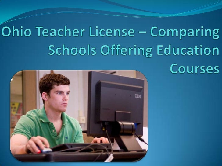 Obtaining your Ohio teacher license is badly needed,especially if you want to practice your educationprofession sooner aft...