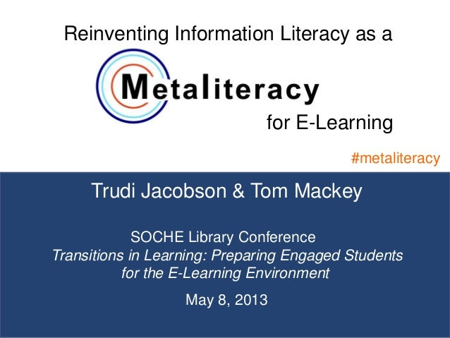 1Trudi Jacobson & Tom Mackey#metaliteracySOCHE Library Conference