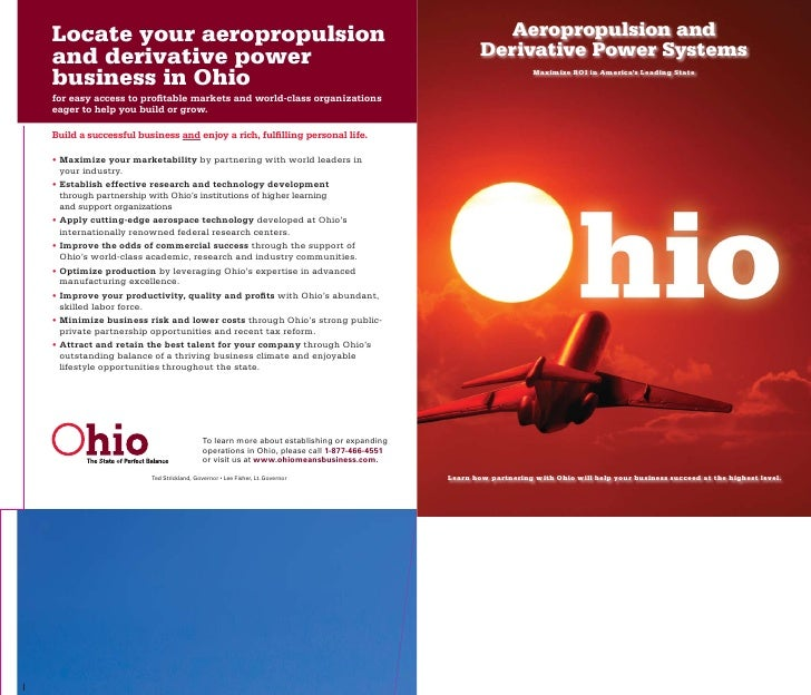 Ohio aeropropulsion brochure for State brochure template